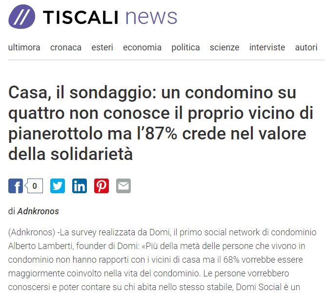 L'87% dei condomini crede nel valore della solidarietà