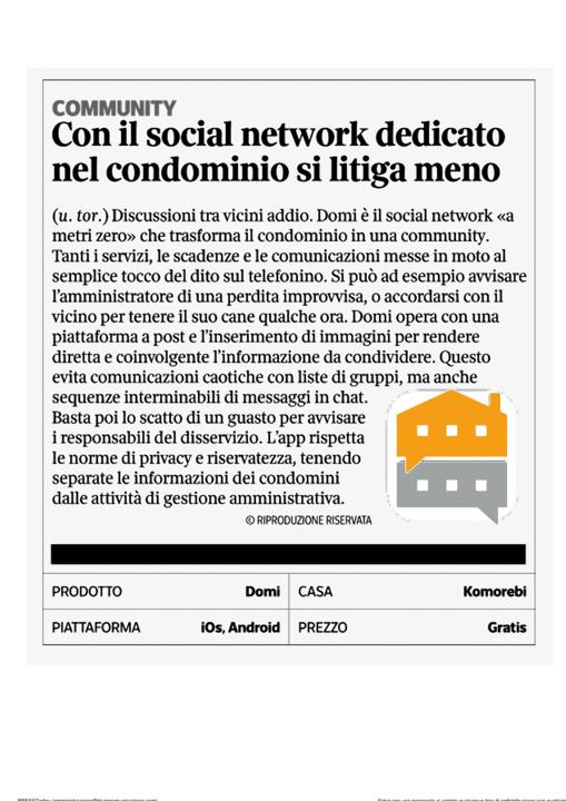 Con il social network dedicato nel condominio si litiga di meno
